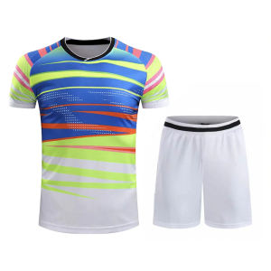 Superb Quality Table Tennis Clothes Quick Dry Men Badminton Shirt And Shorts breathable Table Tennis Uniform