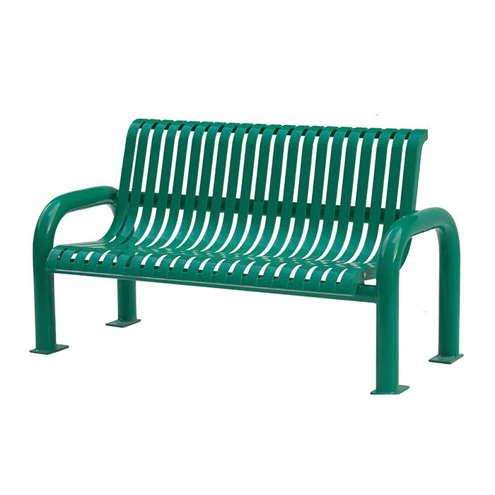 outside modern furniture green luxury patio street outdoor park garden iron metal bench seating