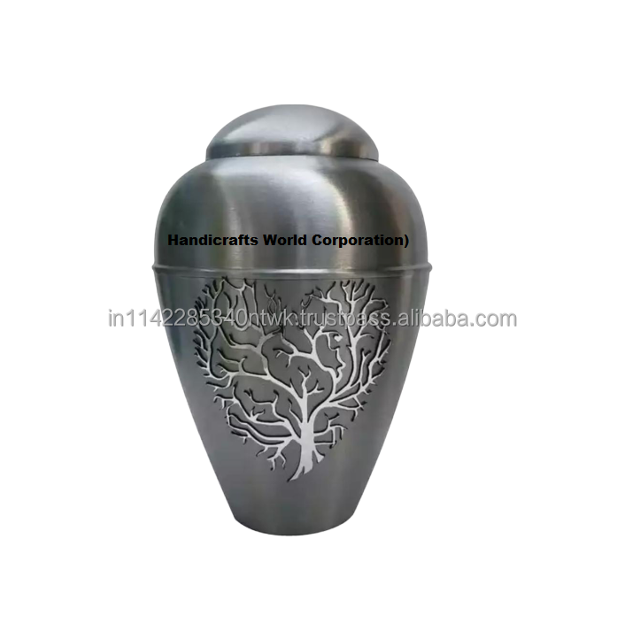 American Style High Quality Adult Keepsake Cremation Urn Funeral Supplies Grey Color Casket