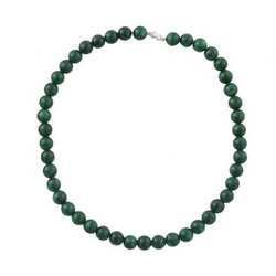 Green Quartz Beaded Necklace with a Silver Clasp - Bohemian Style - Hand-knotted Jewelry - OEM Necklace