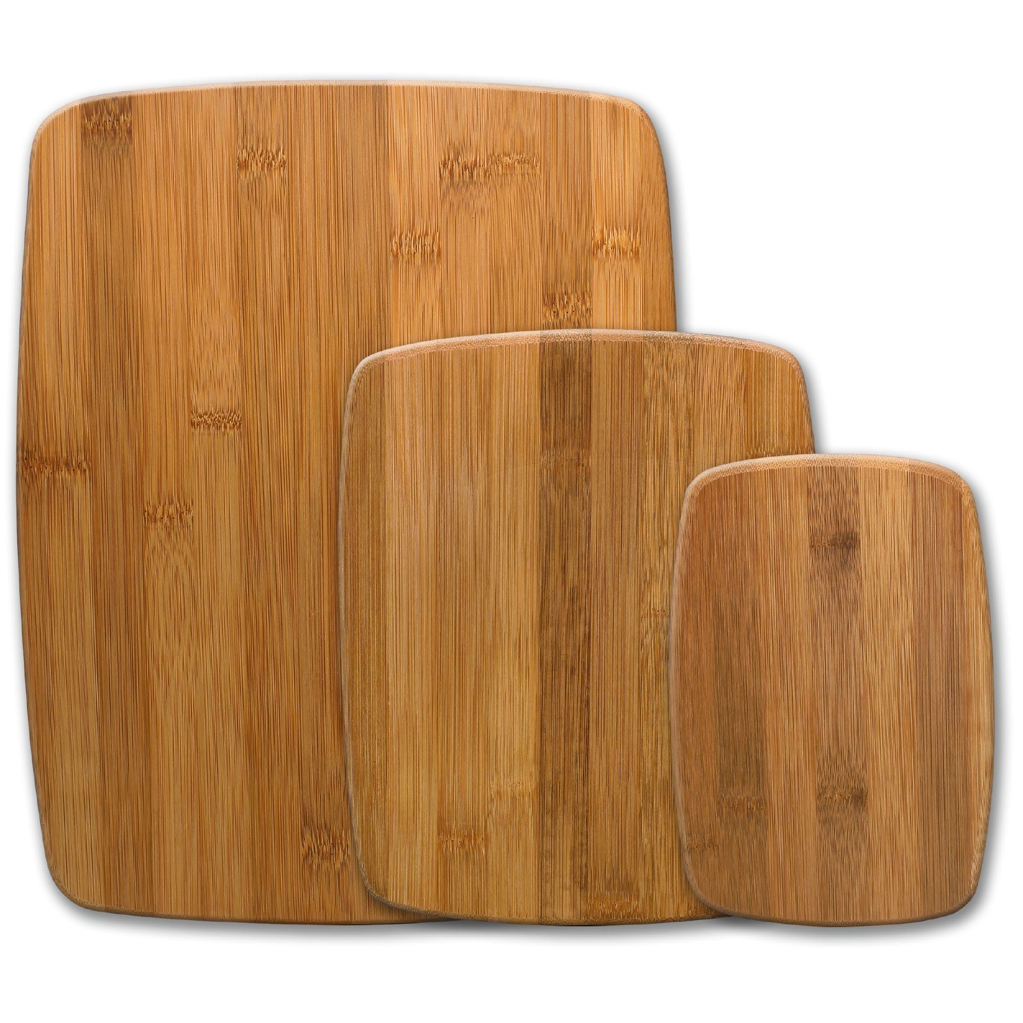 Bamboo wood natural solid wooden chopping block cutting board set of 3