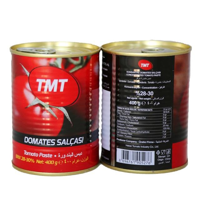 Hot selling high quality canned tomato easy open tinned tomato paste