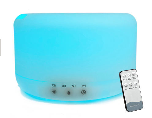 Touch Button Hotel Lobby Big 1L Large Capacity Scent Round Diffuser Commercial Aroma Air Humidifier With Remote Control