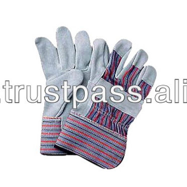 AB grade candy strip leather work gloves labour supply