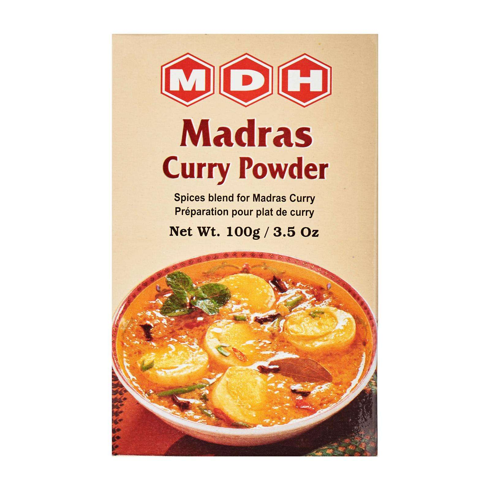 High Quality 36 Months Shelf Life MDH Madras Curry Powder 100g Spices From India
