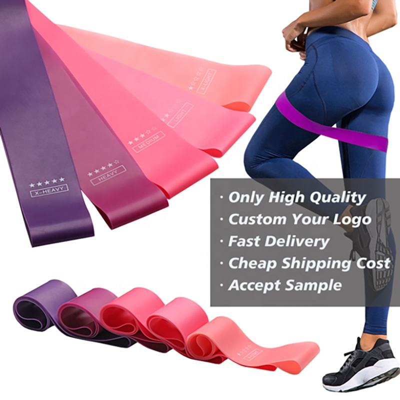Free Sample Fast Shipping Low MOQ Wholesale Custom Logo Home Yoga Gym Workout Exercise Elastic Latex Fitness Resistance Bands