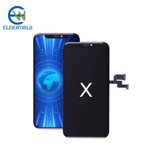 Elekworld Wholesale Price Rigid OLED for apple iPhone X LCD Display Touch Screen with Digitizer Replacement
