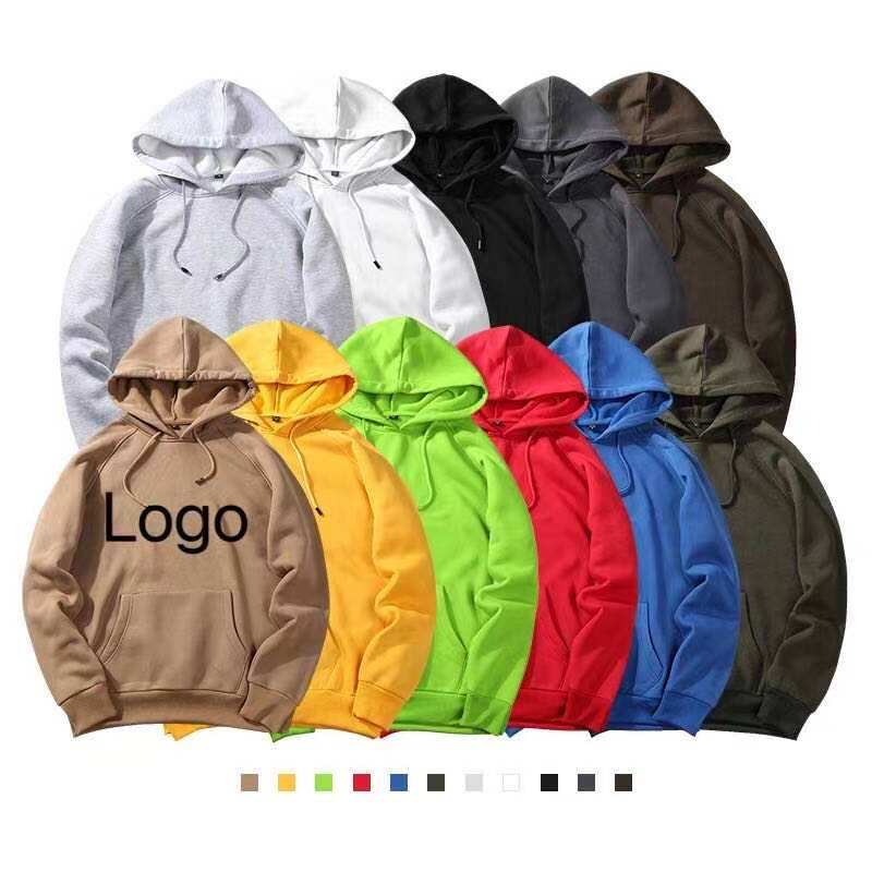 Wholesale Long Sleeve Couple Korean Black Blank Organic Cotton Polyester Pullover Unisex Hoodies With Long Strings