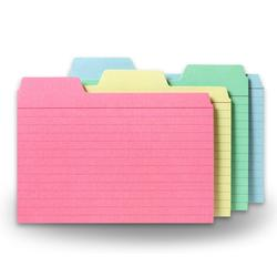 4x6 Tabbed Index Cards Asst 48PK Find-It Tabbed Index Cards 4 x 6 Inches Assorted Colors 48-Pack