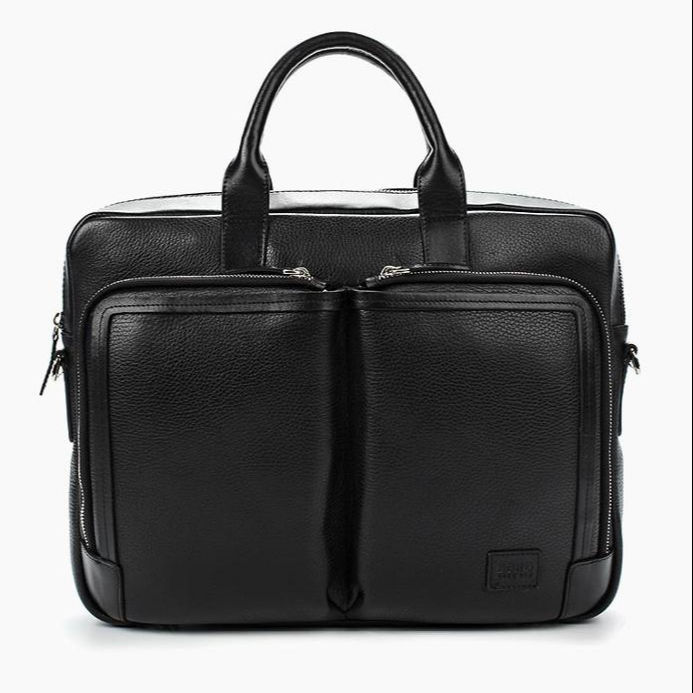 Top Grain Leather Laptop Handbag for Man. 100% Original Leather Men's Briefcase