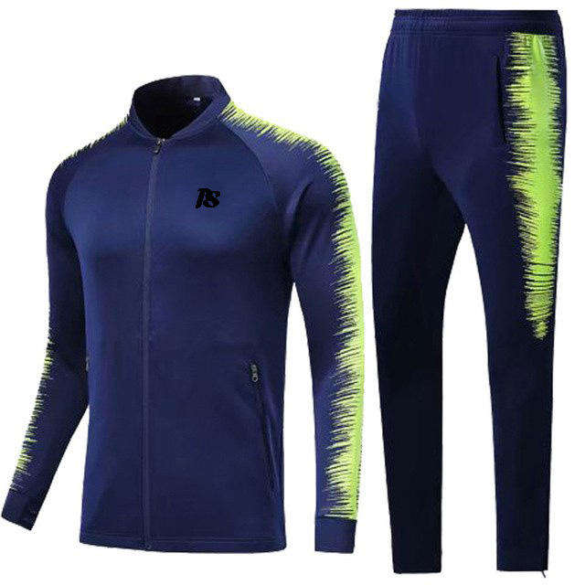 Sublimated Training Soccer Tracksuit Football Warm up Suit Running Jogging Tracksuit
