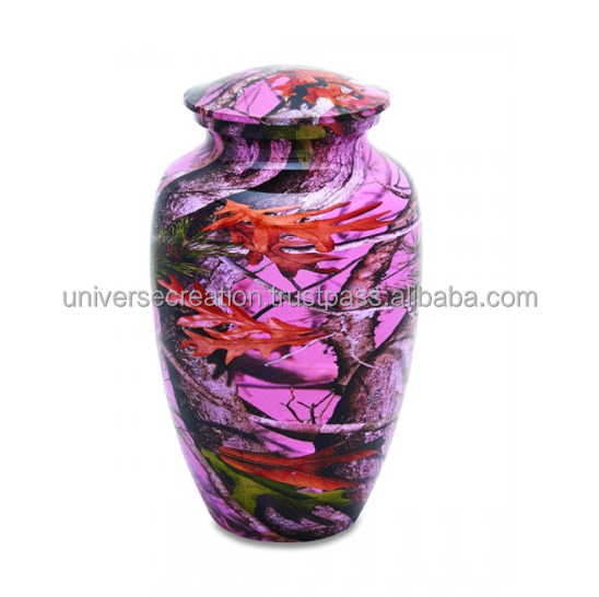 Enamel finish custom smooth finish urns ashes