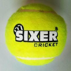 Sixer Supremo Light Yellow  Cricket Tennis Ball