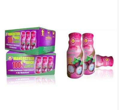 Mangosteen fruit juice 100 % (200 ML. x 24 bottles)