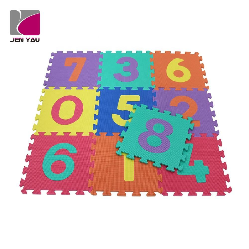 Educational EVA foam puzzle mats eco-friendly kid play mats soft interlocking mats for kids learning