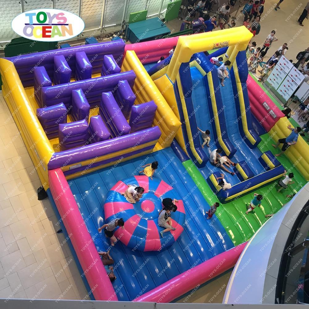 Used inflatable jumping amusement outdoor playground for sales