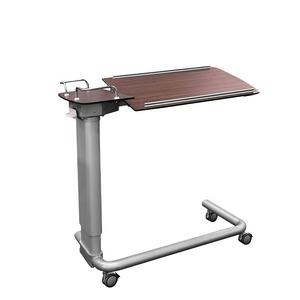 Movable Laminate Dining Table Over Bed Tray Table Hospital Movable Table