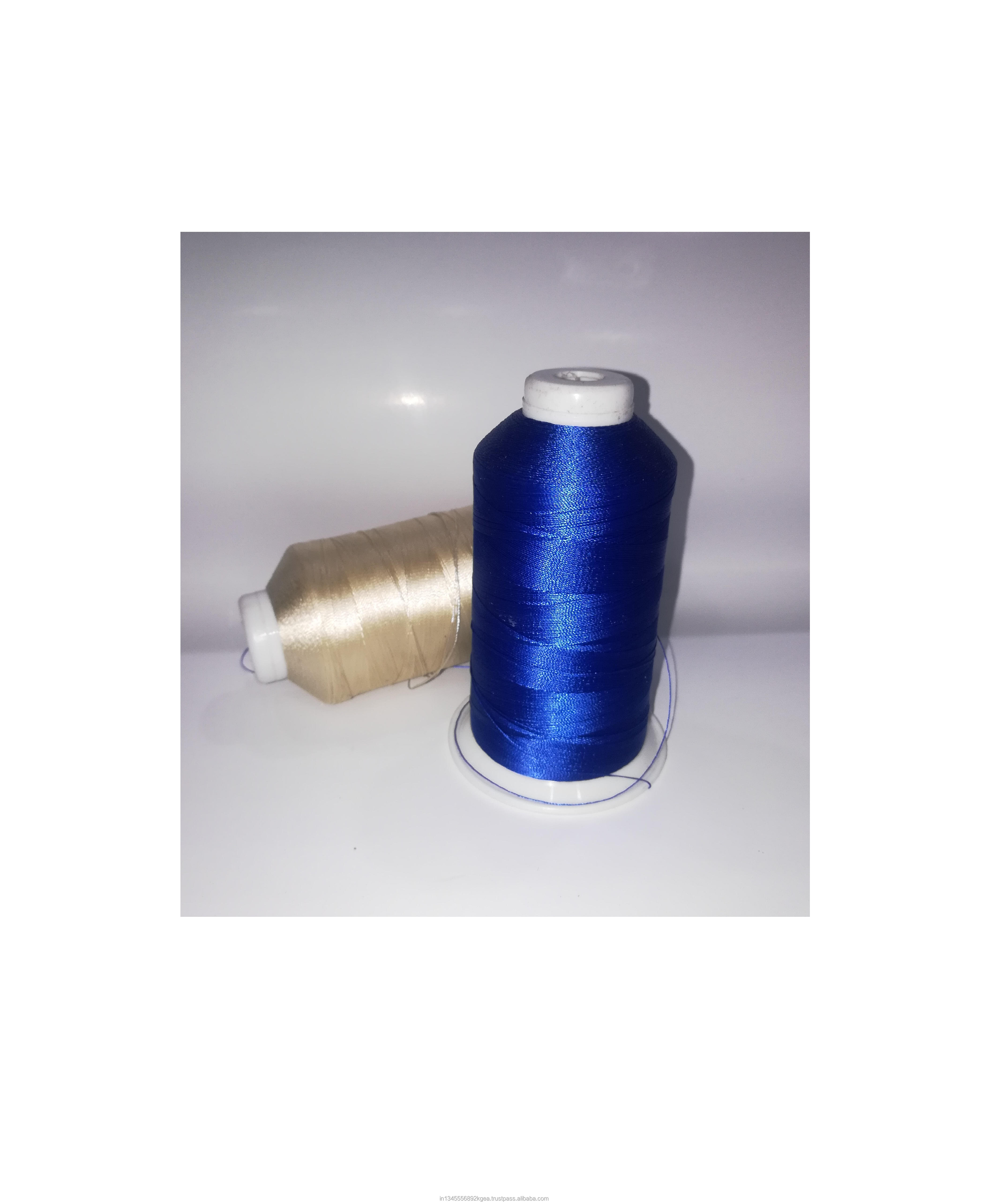 sell dyed polyester high tenacity thread 150d to 300d bright trilobal