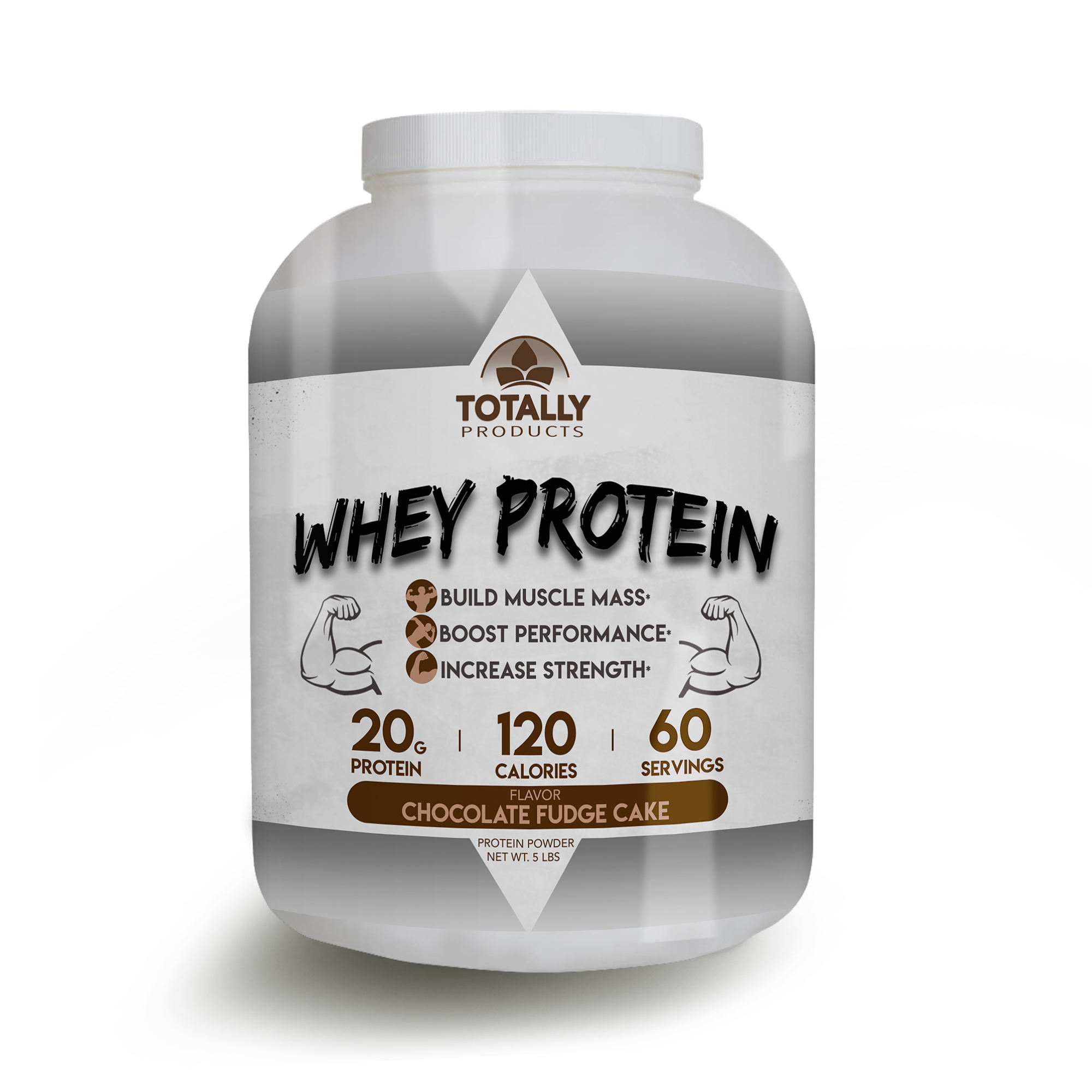 Totally Products Whey Protein Isolate 5000mg - Chocolate Flavor