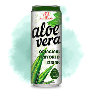 Taiwan 330ml original white grape aloe vera with pulp canned drink