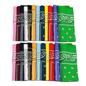Custom Logo Printed Multifunctional Neck Tube Square Headband Scarf Bandana