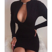 2021 Fashion Women Clothing Casual Dress Ladies Solid Color stylish Sexy Dress Long Sleeve  Mini Skirt Zip Up Bodycon Dresses