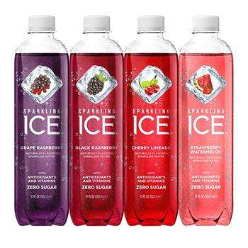 Sparkling ICE Bottled Sparkling Water USA American Flavored Fruit Blend Berry