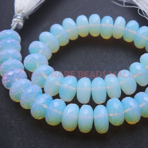 Opalite Quartz Beads Natural Opalite Quartz Gemstone Faceted Rondelle Beads Opalite Quartz Gemstone 10.5 MM Loose Gemstone