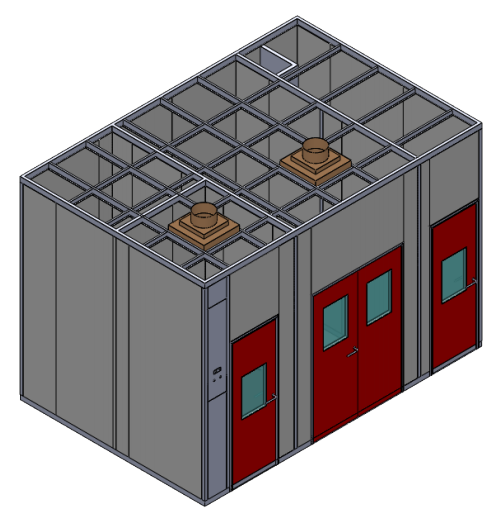 Container Hospital Modular Negative Pressure Isolation Clean Room