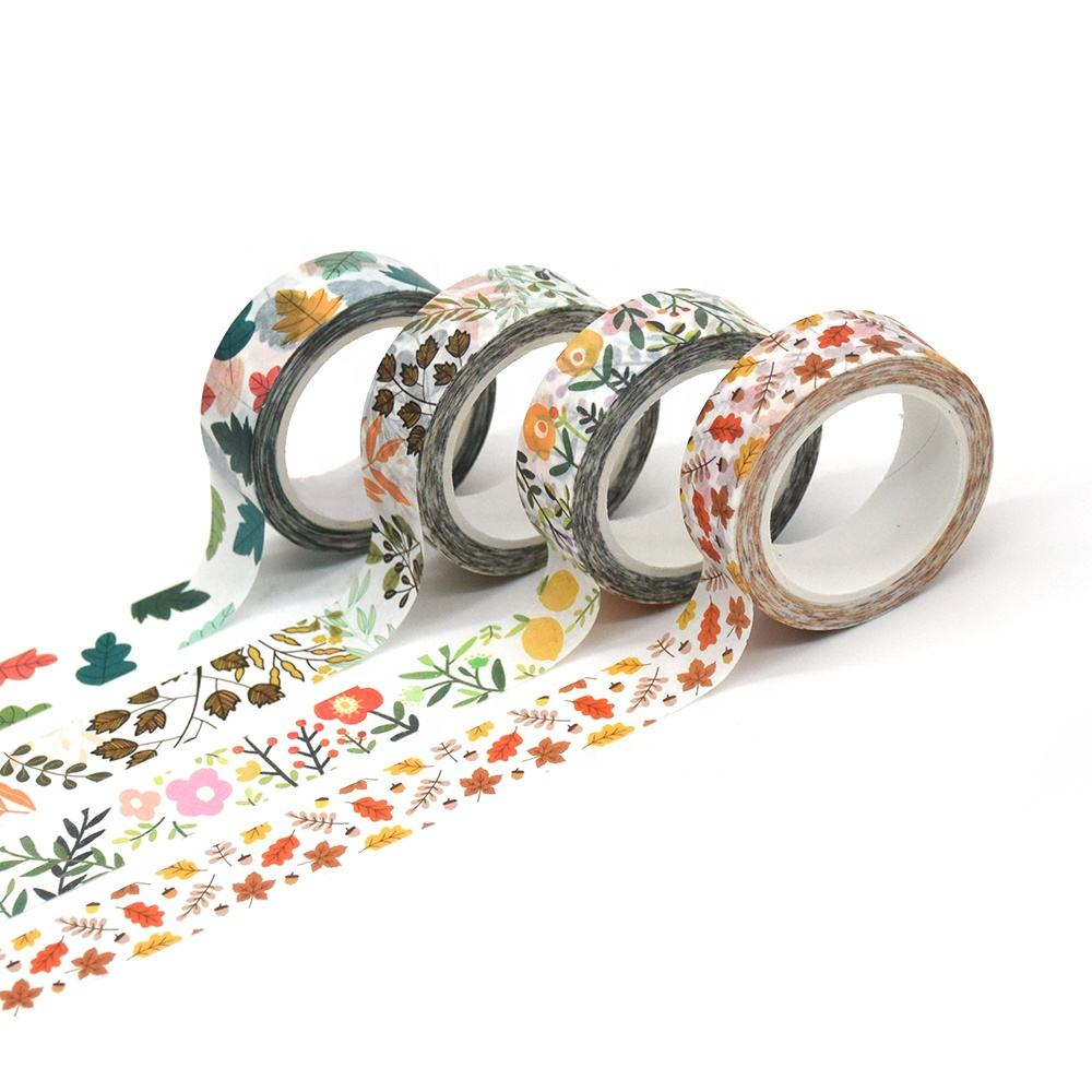 korea MOQ 100PCS ONLY Customized Design Mint Color Rose Gold Foil Washi Tape for Gift Craft Packing