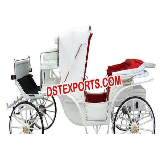 Beautiful Wedding Horse Carriage White Asian Wedding Carriage Manufacturer Latest Wedding Horse Drawn Carriages