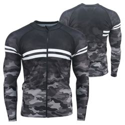 Wholesale sublimated printed long sleeves men mma rash guard MMA windsurfing Rash Guard
