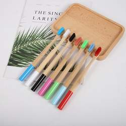 Eco-friendly Natural Bamboo Toothbrush Bamboo Handle Dental Care Tool Soft Multicolour Bristles Whitening Oral Care Tool