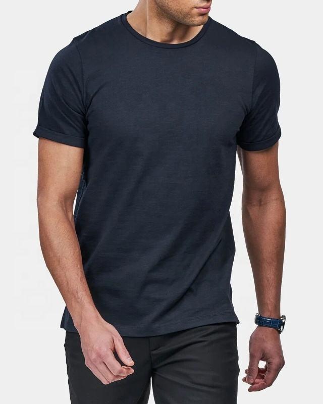 T-shirts OEM wholesale In bulk unisex custom letter printing 100% organic cotton plus over size blank Plain men's T shirts