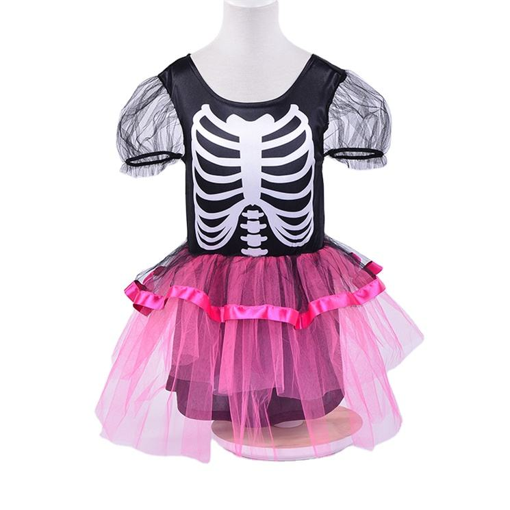 For Carnival [ Costume For Girls ] Girls Skeleton Costume For Kids Wholesale Colorful Witch Skeleton Kids Carnival Costume For Girls