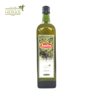 Amoliva - High Quality Pomace Olive Oil - 1 l Glass Bottle - Product from Spain