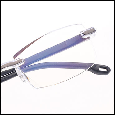 Retro rimless plastic glasses spectacles eyeglasses retsing anti blue eyewear