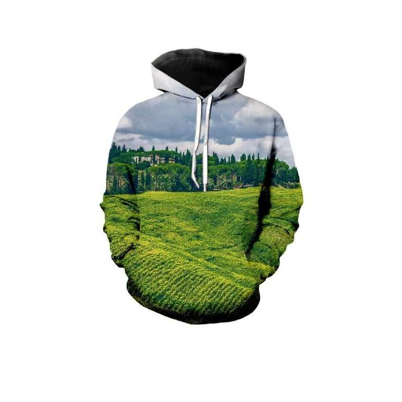 Kreative Natur Mountain Sky View Farbe Alle Over Print Hoodie artikel 3