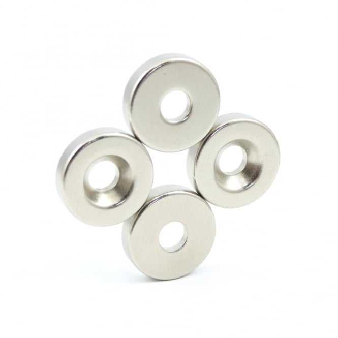 Neodymium Disc Shaped Magnets 2x3 N35 / N45 / N52 Round Magnets / Silver Magnets