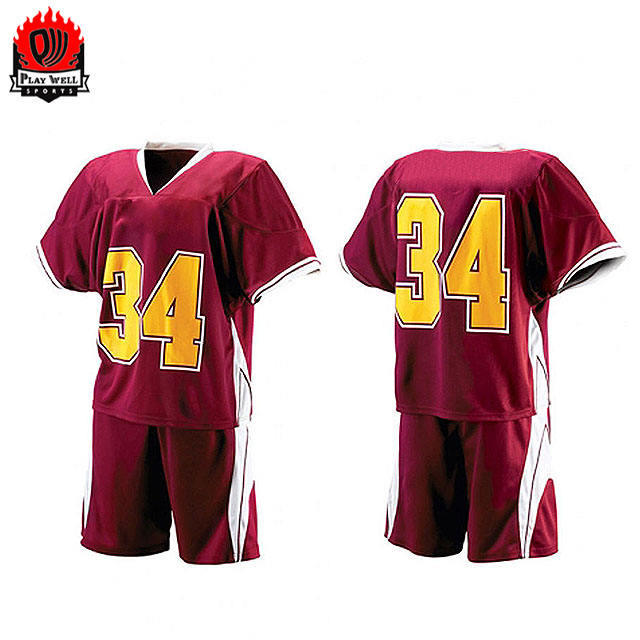 Wholesale 100% Polyester Custom Sublimated Lacrosse Uniforms