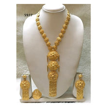 Necklace Earring African Jewellery Design Set Gold Plated Wedding Party