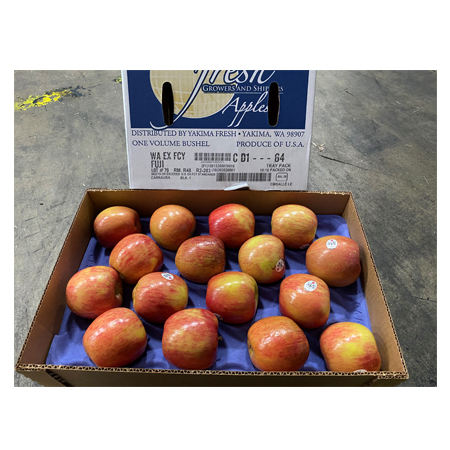 Yakima Fresh Label Fuji Apple Grow Healthy And Delicious Apples Get A Lifetime Of Fruit Juicy Crisp And Sweet Fresh Apple