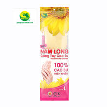 Nam Long Nature Rubber  Household Gloves for Kitchen size L-40cm made in Vietnam