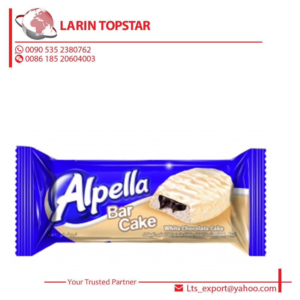 Ulker Alpella White Chocolate Covered Cake With Cocoa Cream 40g