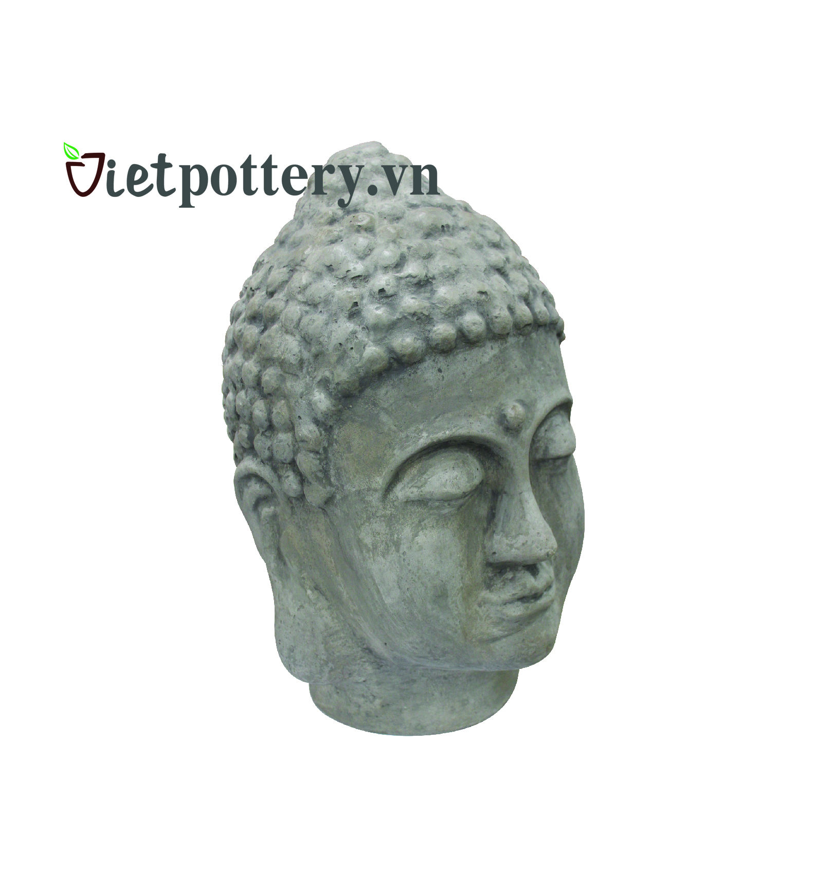 Buddha head use for sale in home and garden made by concrete and fiber glass
