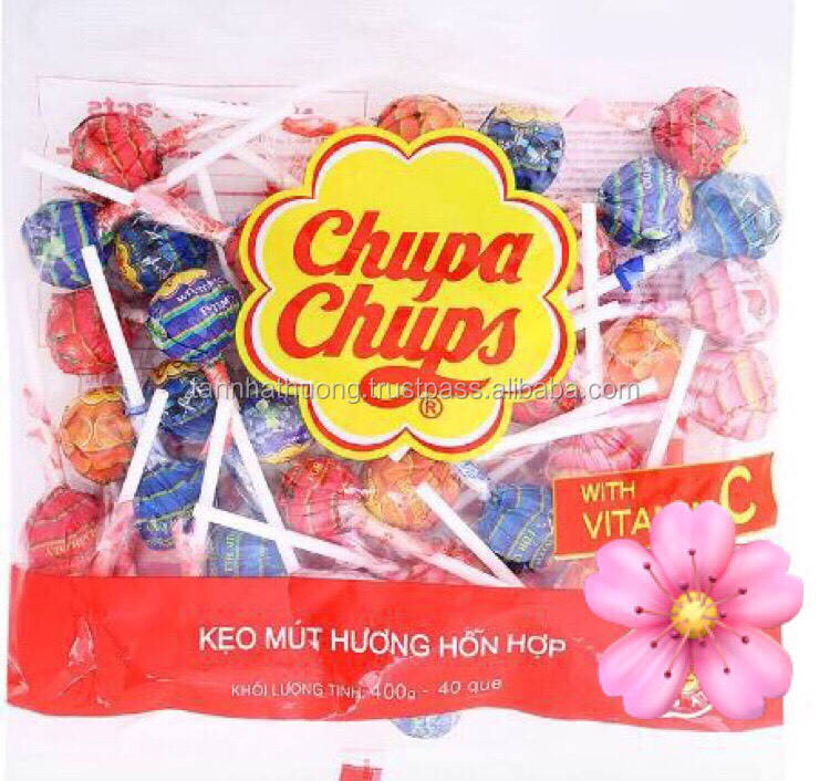500g bag packing Vietnam Chupa Chupp Lollipops/ Candy with fruit flavor for sale in Vietnam only