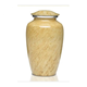 High glossy beige marble color brass Classic Cremation Urn for Human Ashes