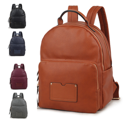 PU Leather Multi-Function Backpack