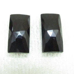 Natural Black Onyx  5x7mm to 18x25mm Octagon Rose Cut Loose Gemstone