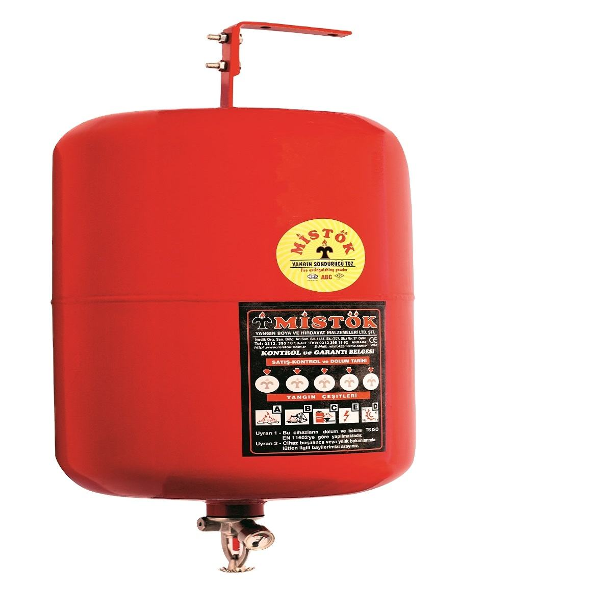 A-12 12 kg fire extinguisher ceiling system 40% 12 kg CE Approval ABC Dry Chemical Powder Automatic Hanging Ceiling Mounted